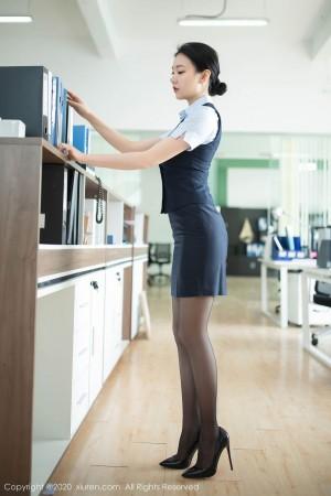 黑丝美腿内衣诱惑翘臀职场OL女秘书美女模特秀人网-[安然Maleah]超高清写真图片 1620396681更新