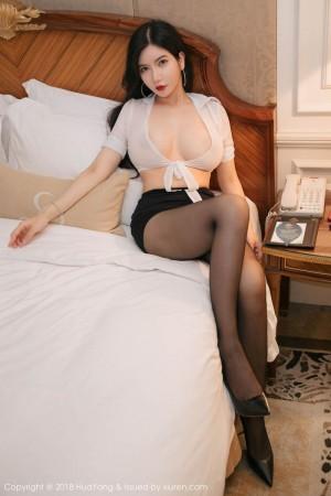 黑丝美腿爆乳超短裙床照情趣内衣美女模特花漾写真-[李妍曦]超高清写真图片|1620343781更新