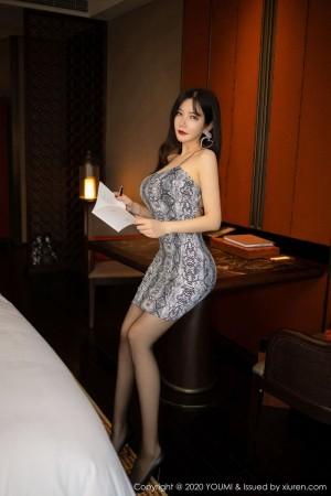 吊裙黑丝美腿翘臀床照熟女美女模特尤蜜荟-[李妍曦]超高清写真图片|1620345293更新