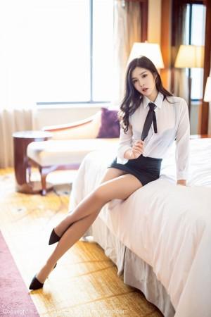 黑丝美腿内衣诱惑白衬衫职场OL制服诱惑美女模特语画界-[周思乔]超高清写真图片|1620398615更新