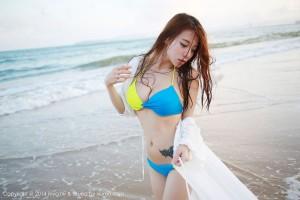 沙滩美女比基尼美胸湿身诱惑美女模特美媛馆-[嘉宝贝儿]超高清写真图片|1620404291更新