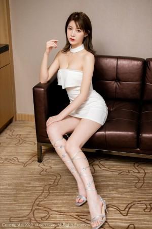 美腿抹胸裙内衣诱惑性感美女美女模特秀人网-[yoo优优]超高清写真图片 1620409694更新