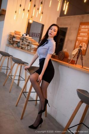 黑丝美腿都市丽人职场OL内衣诱惑超短裙美女模特秀人网-[安然Maleah]超高清写真图片|1620421857更新