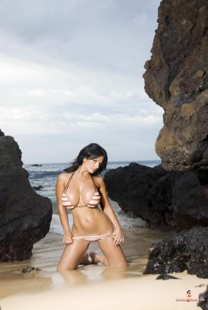 VOL.492 丹尼斯・米兰妮 - 沙滩巨乳比基尼尤物高品质壁纸大图