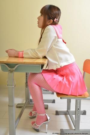 VOL.863 [Digi-Gra]丝袜美女双马尾学生装:波多野结衣(波多野結衣はたの ゆい)高品质写真套图(74P)