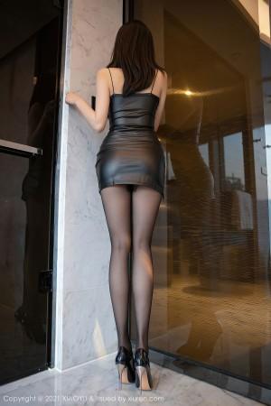 VOL.555 [语画界]情趣皮衣美女丝袜美臀黑丝美腿:蜜桃酱o高品质写真套图(69P)