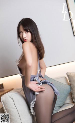 VOL.844 [LD零度]美厨娘丝袜制服黑丝诱惑:萱萱高品质写真套图(82P)