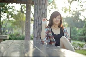VOL.317 [台湾正妹]清新外拍正妹:林茉晶(腿模Queena)高品质写真套图(18P)