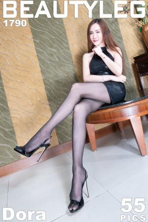 VOL.1349 [Beautyleg]情趣皮衣美女黑丝美腿:曾妍希(腿模Dora)高品质写真套图(50P)