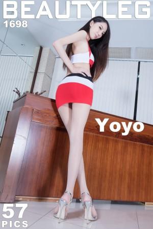 VOL.1303 [Beautyleg]翘臀丝袜美腿高跟:童采萱(Beautyleg Yoyo,腿模Yoyo)高品质写真套图(57P)