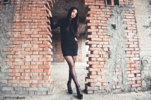 VOL.1555 [台湾正妹]黑丝外拍包臀裙美女:Jenny高品质写真套图(39P)