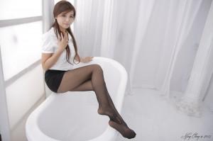 VOL.462 [台湾正妹]黑丝浴室OL美女:Anna高品质写真套图(96P)