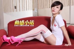 VOL.1081 [动感之星]护士制服制服白丝:精灵(动感小站精灵,动感之星精灵)高品质写真套图(43P)