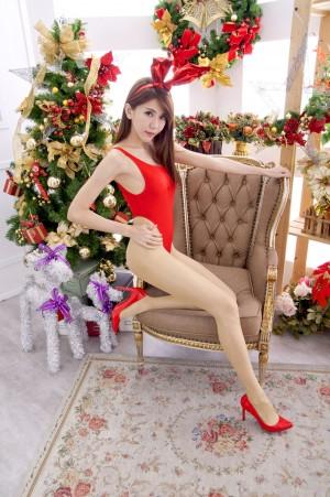 VOL.1343 [台湾正妹]兔女郎圣诞:黄淑华(腿模Maggie)高品质写真套图(40P)